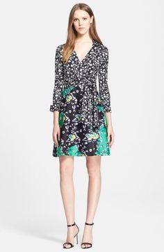 Diane von Furstenberg 'Amelianna' Cotton & Silk Wrap Dress available at #Nordstrom