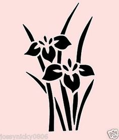 "Free Asian Stencils | ... about WILD IRIS STENCIL FLOWER FLOWERS STENCILS TEMPLATE NEW 6"" X 12"