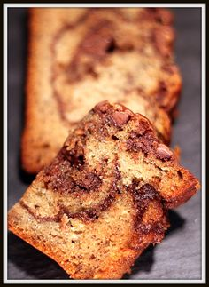 Cinq Fourchettes etc.: Pain aux bananes au Nutella et au beurre d'arachide