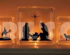 Three Scene Nativity by aprilscustomcrafts on Etsy
