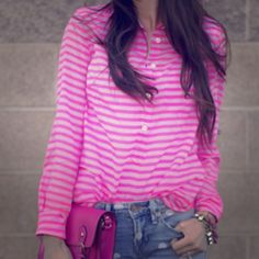 "Spotted while shopping on Poshmark: ""Jcrew pink stripe woven blouse""! #poshmark #fashion #shopping #style #J. Crew #Tops"
