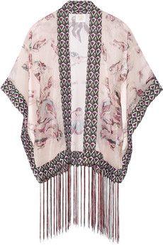 Anna Sui Kimono-Jacke aus Chiffon aus einer bedruckten Seidenmischung | NET-A-PORTER