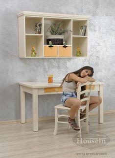 שולחנות כתיבה לילדים מעץ מלא דגם זיו - האוס אין HouseIn