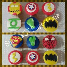 Cupcakes  temáticos Super  heroes  ...