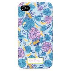 Designed exclusively for the sisters of Alpha Xi Delta, this lovely Lilly Pulitzer print is infused with shades of light blue, dark blue and gold.  The print prominently features the A Xi D pink rose, crest and quills.  And hidden throughout the pattern, you will find your Greek letters! Fits Apple iPhone 4 and iPhone 4S Compatible with Verizon 4G iPhones Made with a soft touch protective coating  This is a limited edition item from the Lilly Pulitzer Sorority Collection.