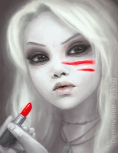 WARPAINT by DestinyBlue . Character Sketch / Drawing Illustration Inspiration
