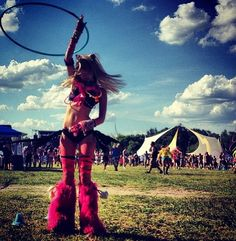 This will be me eventually! Hooping at all the festivals :)