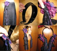 """HIP TASSELS clip """"Fire"""" with dragon GOTH Tribal Fusion belts & hip scarves or hair jewelry hair falls Belly dance yarn falls accessory garb. €15.00, via Etsy."""