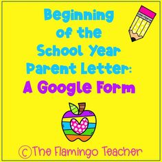 In the beginning of the school year, I always send out a letter to parents/guardians in order to get to know my students and their families better. I created a digital beginning of the school year parent letter, because I am trying to go as paperless as possible. I have enough paperwork as it is! I created a Google Form for parents/guardians to fill out about their children.