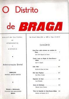 O Distrito de Braga. Boletim Cultural de Etnografia e História (vários números) (3€)