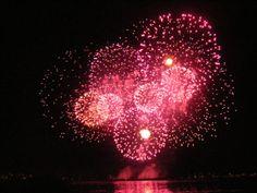 English Bay HSBC Fireworks - Vancouver BC Canada