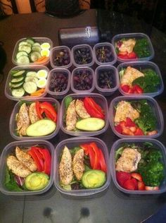 My pre made meals for a few days