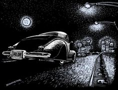 Exit Ramp by Bomonster - Scratchboard