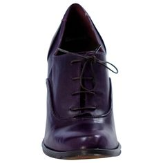Aurora Purple Classic Lace Up Oxfords full-size Oxford Heels, Shoe Collection, Chunky Heels, Footwear, Lace Up, Shoe Bag, Oxfords, Purple, Boots