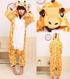 Kawaii fashion cartoon pajamas winter animal style Giraffe on Aliexpress.com