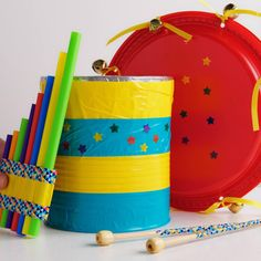 Instrument Craft, Homemade Musical Instruments, Making Musical Instruments, Music Activities For Kids, Toddler Learning Activities, Drums For Kids, Music For Kids, Projects For Kids, Diy For Kids