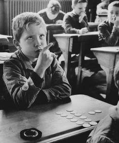 """Robert Doisneau. """"Mental Calculation"""". 1956. France."""