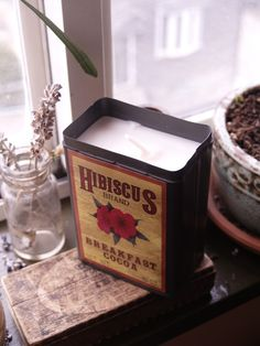 home made candles in vintage tins by fightthefuture on etsy