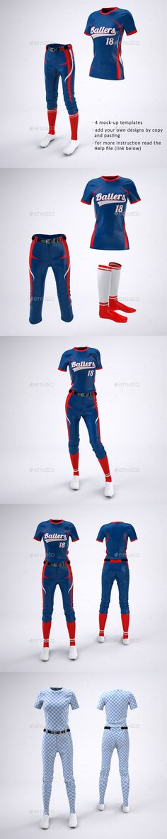 9bfd9aac Women's Softball Jerseys and Uniform MockUp #sport #female Download :  https://