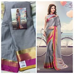 """Weekend saree sale"" Pls call/whatsapp +919600639563. Code: ddc gray Price: 2799/- Material: Soft cotton. For booking and further details pls call or whatsapp us at +919600639563. Happy shopping y'all :) Be Beautiful :)"