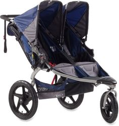 Although this stroller is still huge when folded down and sometimes annoying to have to haul in and out of my car, I love it.  It rolls so smoothly and is perfect for hiking.  I don't use it much for jogging since I'm too weak to push the weight of the stroller and my two kids.  They are pricey, but all double stroller are and the fact that we found a nice one on craigslist helped.