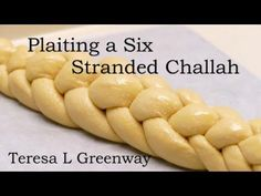 Learn how to plait or braid a six stranded Challah Bread. In this video you can watch how to braid a six stranded Challah easily. To join my online baking co. Plaited Bread Recipe, Bread Plait, Challah Bread Recipes, Braided Bread, Bread Bun, Easy Bread Recipes, Baking Recipes, Kosher Recipes, Challa Bread