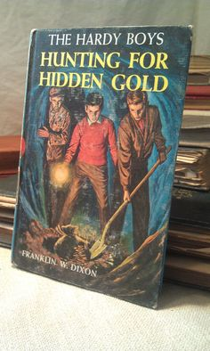 Items similar to The Hardy Boys No. 5 - Hunting For Hidden Gold 1963 - Vintage Children's Book on Etsy Vintage Children's Books, Vintage Cards, Books For Boys, Childrens Books, Ocean City Beach, Stacked Books, Nancy Drew Mysteries, First Boyfriend, Old Rock