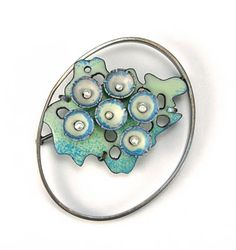 Enameled Brooch by Danielle Embry - love the abstract sense; love the colors!
