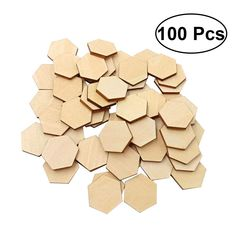 Baoblaze 100 Pieces Assorted Size Wooden Gear Craft Embellishment Gift Tag Wood Ornaments for Scrapbooking Painting Drawing Craft 25-50mm