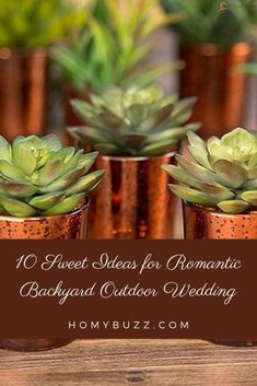 10 Sweet Ideas for Romantic Backyard Outdoor Wedding - HomyBuzz