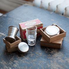 Calvert Whiskey Taste Test Kit w/ two shot glasses, Travel Cup and 3oz | Izola