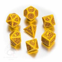 Pathfinder Dice: Skull & Shackles These are 100% official Pathfinder Adventure Path: Skull & Shackles Adventure Path dice. Each of these 7 piratical dice bear markings suggestive of lost treasures and