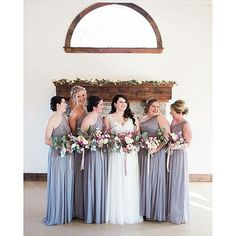 beautiful bridesmaids with beautiful florals by @weddingstiedwithlace #niagaraweddingphotographer #niagaraweddings #weddingflorals #florals #fineartphotography #fineartwedding #fineartflorals #niagaraweddingflorist #flowers #love #bride #cavespringsvineyard #bridesmaids #davidsbridal #niagara #jordanontario #winery #youngglassphotography | Shared via davidsbridal.com