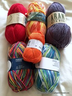 The colours of the rainbow: Planning my Sky Blanket 2016. It is going to be a mammoth crochet undertaking!