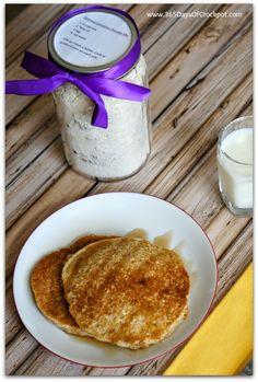 Recipe for Oatmeal Cinnamon Pancake Mix www.365DaysOfCrockpot.com #breakfast