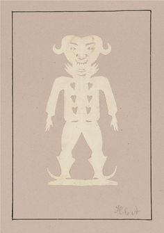 Goblin? Paper cut by Hans Christian Andersen, Odense City Museums.  Source: Odense City Museums. The images may not be resold, used for advertisement, nor other commercial purposes.