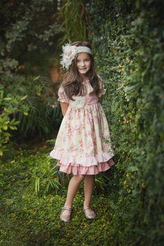 Easter dress, girls peasant dress, shabby chic dress, girls spring dress. $86.00, via Etsy.