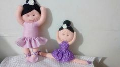 Bailarinas em feltro