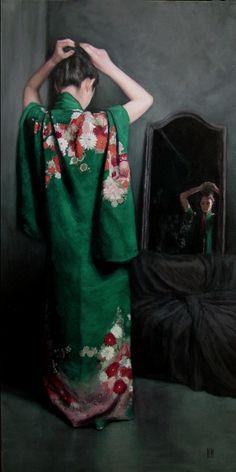 Kimono Paintings by Stephanie Rew
