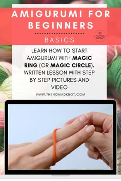 Beginner Crochet Tutorial, Crochet Stitches For Beginners, Beginner Crochet Projects, Crochet Instructions, Crochet Videos, Crochet Basics, Easy Knitting Patterns, Crochet Patterns Amigurumi, Magic Loop Crochet