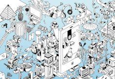 Wheres My Phone? by Nigel Sussman, via Behance (Detail 1)
