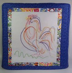 Blue Kitchenaid Mixer Cover with Rooster  Tilt by PatsysPatchwork, $38.00