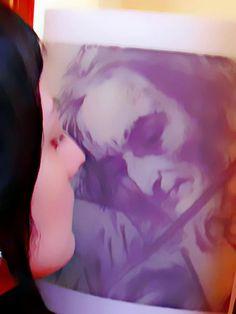 Niccolò Paganini, disegno anonimo/anonymous drawing (stampa/print) Bettyredrosecrow, my pic