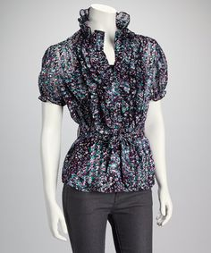 Take a look at this Purple Belted Top by Michael K on #zulily today!