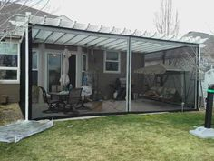 After Screened In Pergola With Shade Screen Cover