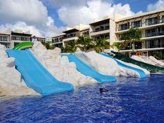 Fun waterslides at Royalton Cancun!