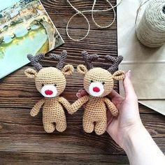 Reindeer amigurumi pattern