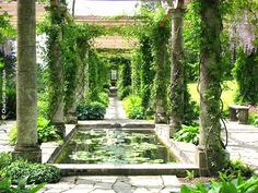 Harold Peto designed the 300 foot pergola at West Dean and Gertrude Jekyll created a water garden