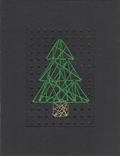 Stitched Tree Christmas card by welaughindoors