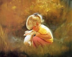 Wonderful childhood paintings by Donald Zolan. Donald Zolan is America's Leading Children's oil painting specialist. Baby Painting, Painting For Kids, Artists For Kids, Art For Kids, Lapin Art, Art Amour, Rabbit Wallpaper, Rabbit Art, Painting Wallpaper